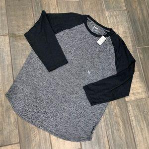 NWT Express Men's 3/4 sleeve shirt